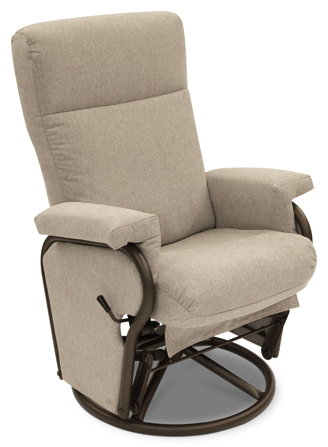Pratt Chenille Swivel Glider Reclining Chair – Nature