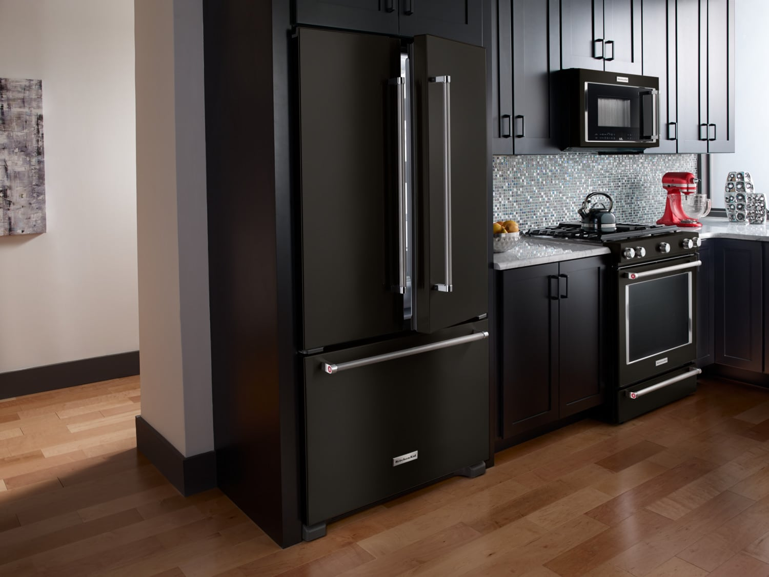 Kitchenaid Black Stainless Steel Slide In Gas Convection