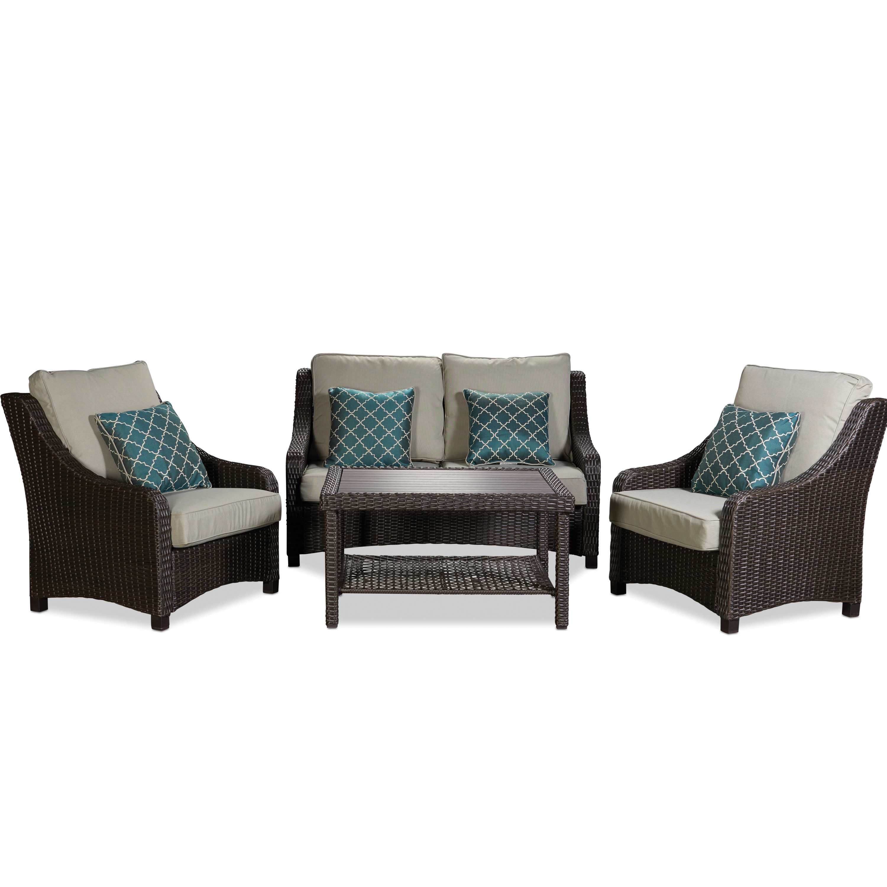 Outdoor Furniture - Naples 4 Piece Seating
