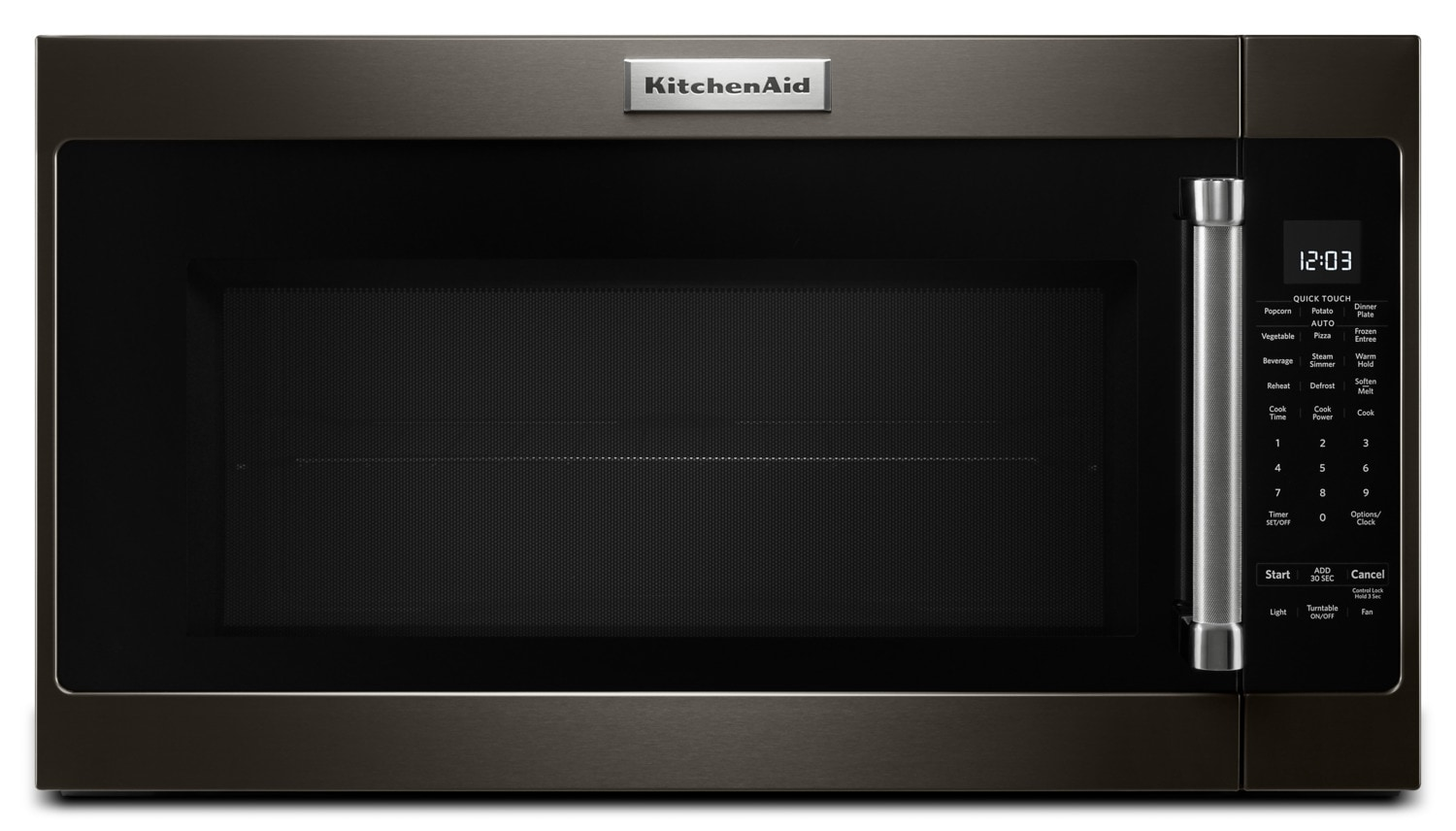KitchenAid Black Stainless Steel Over-the-Range Microwave (2.0 Cu. Ft.) - YKMHS120EBS
