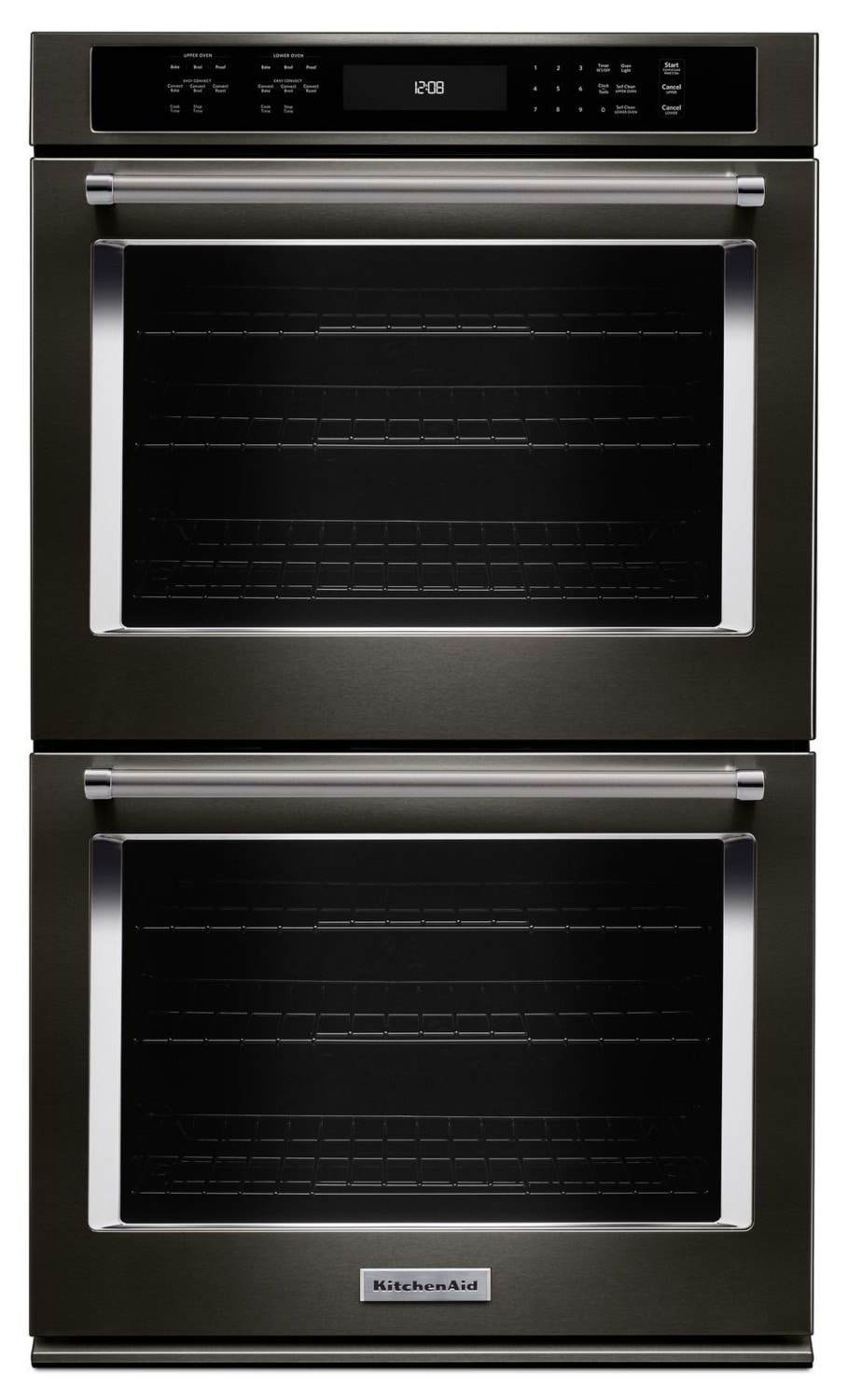 KitchenAid Black Stainless Steel Double Wall Oven (10 Cu. Ft.) - KODE500EBS