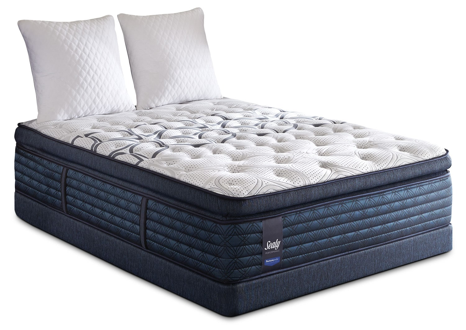 Sealy ProBack Cantania Euro Pillow-Top Plush Queen Mattress Set