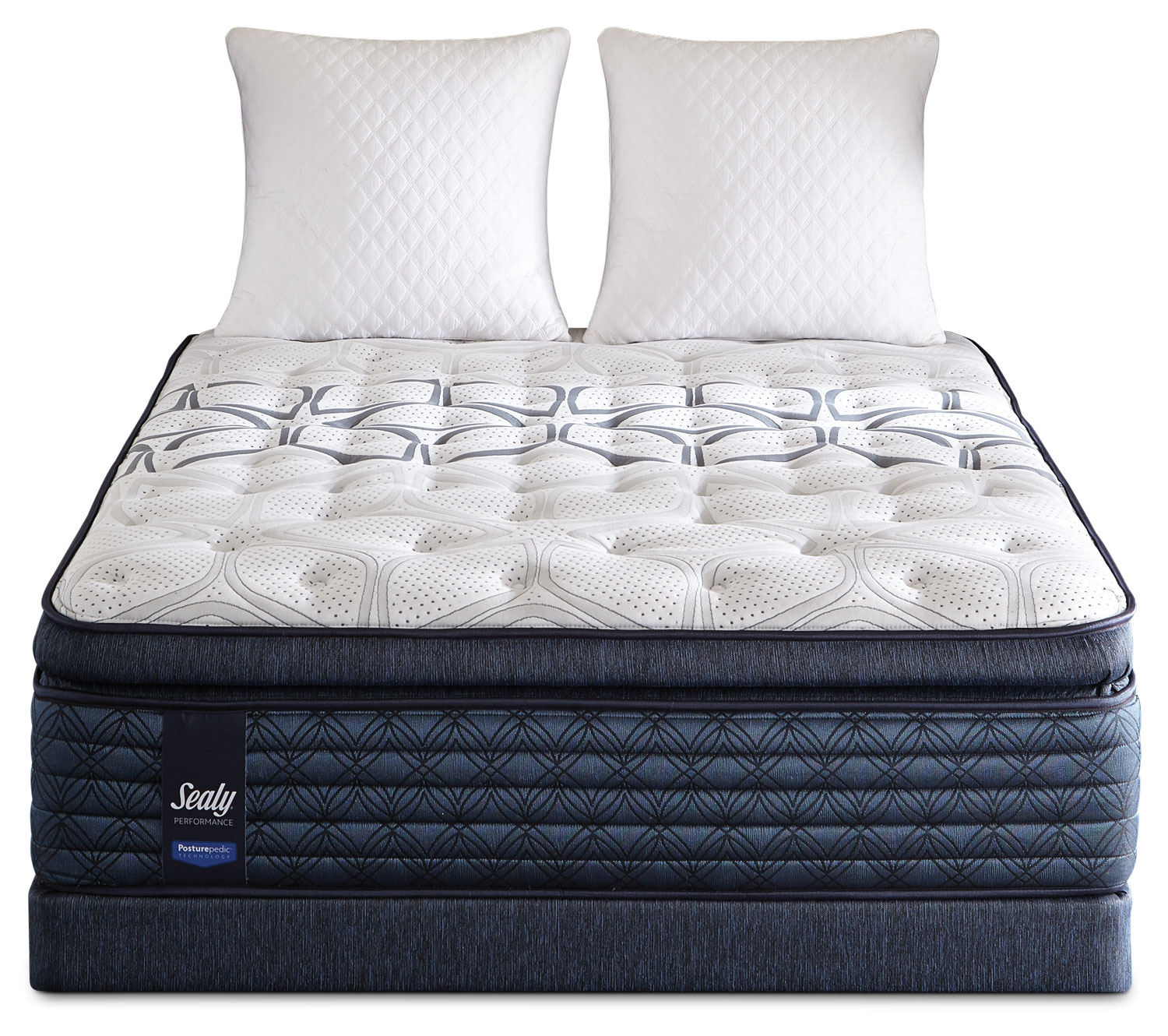 Sealy ProBack Cantania Euro Pillow-Top Plush Low-Profile Split Queen  Mattress Set