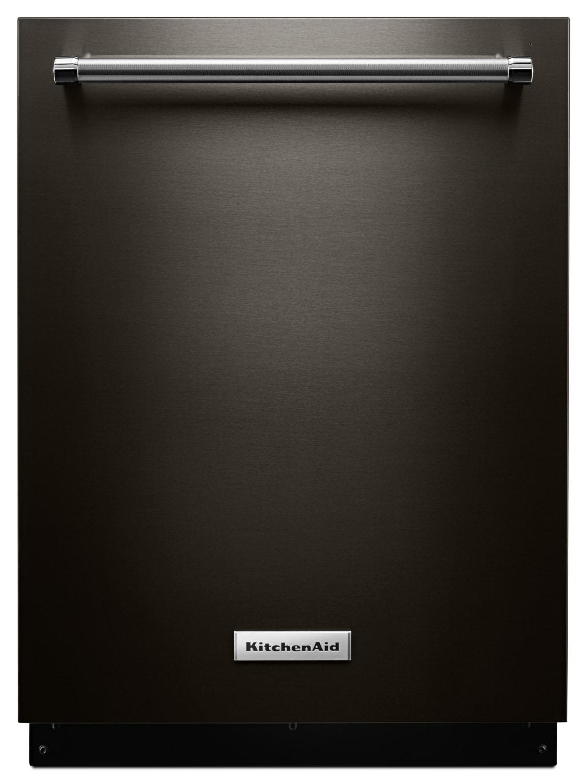 "KitchenAid Black Stainless Steel 24"" Dishwasher - KDTE104EBS"