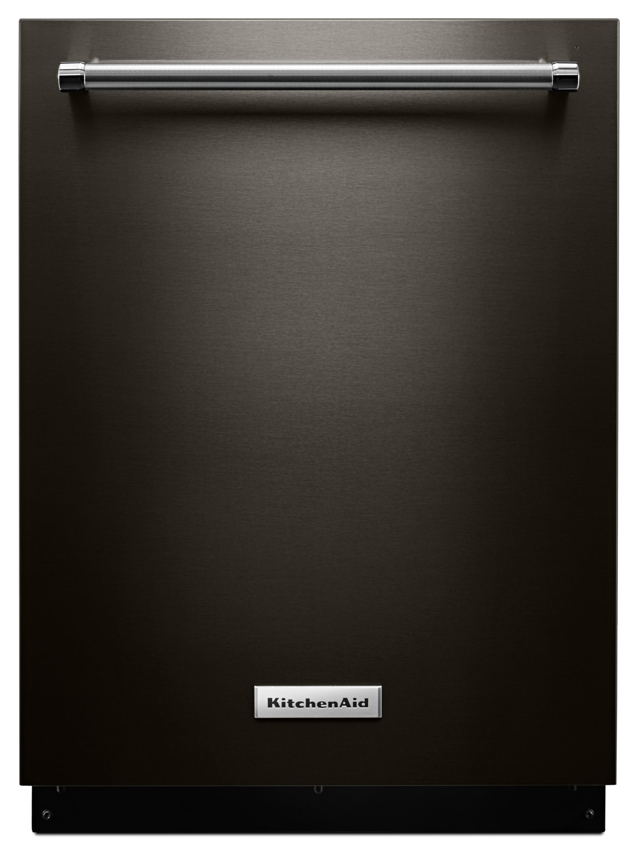 "KitchenAid Black Stainless Steel 24"" Dishwasher - KDTM354EBS"
