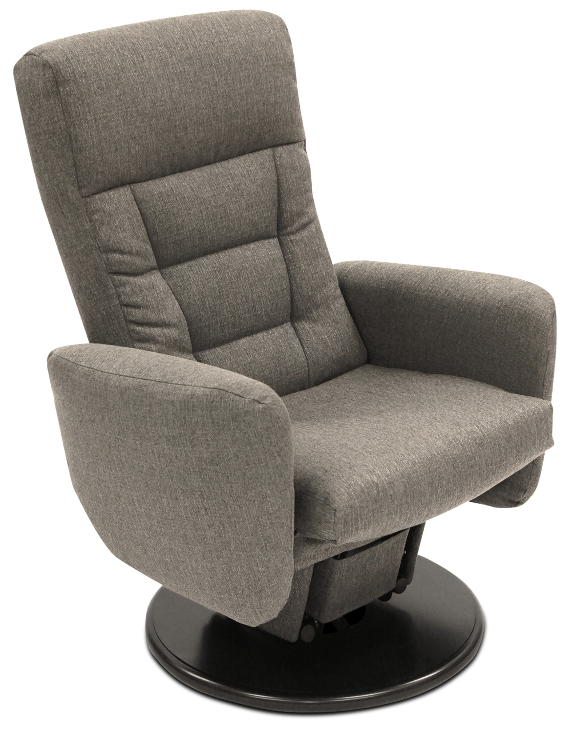 Nadia Linen-Look Fabric Swivel Glider Reclining Chair – Grey