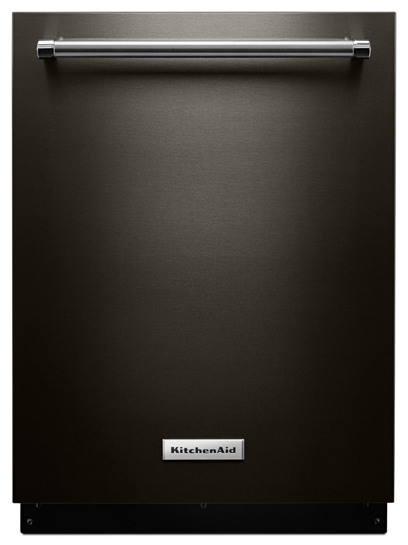 "KitchenAid Black Stainless Steel 24"" Dishwasher - KDTM704EBS"