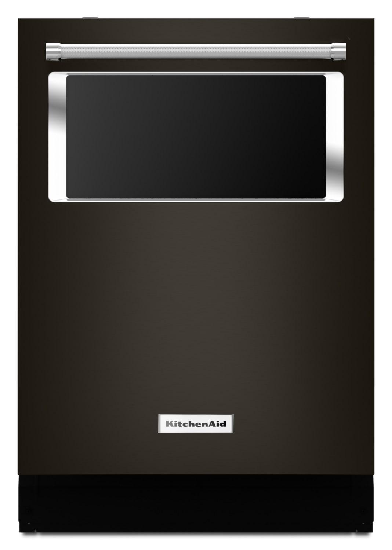 "KitchenAid Black Stainless Steel 24"" Dishwasher - KDTM384EBS"