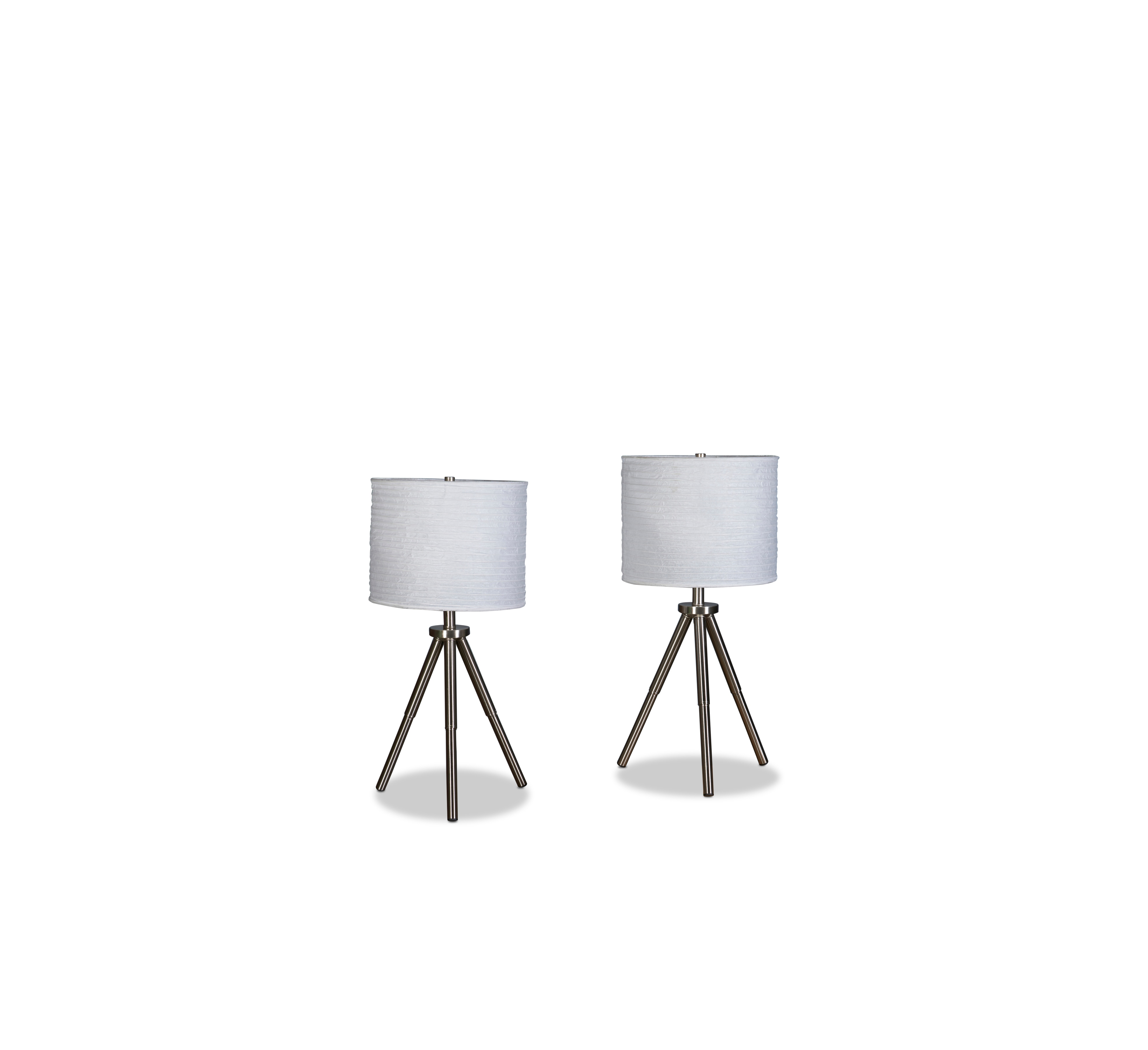 Table Lamps - Brushed Nickel