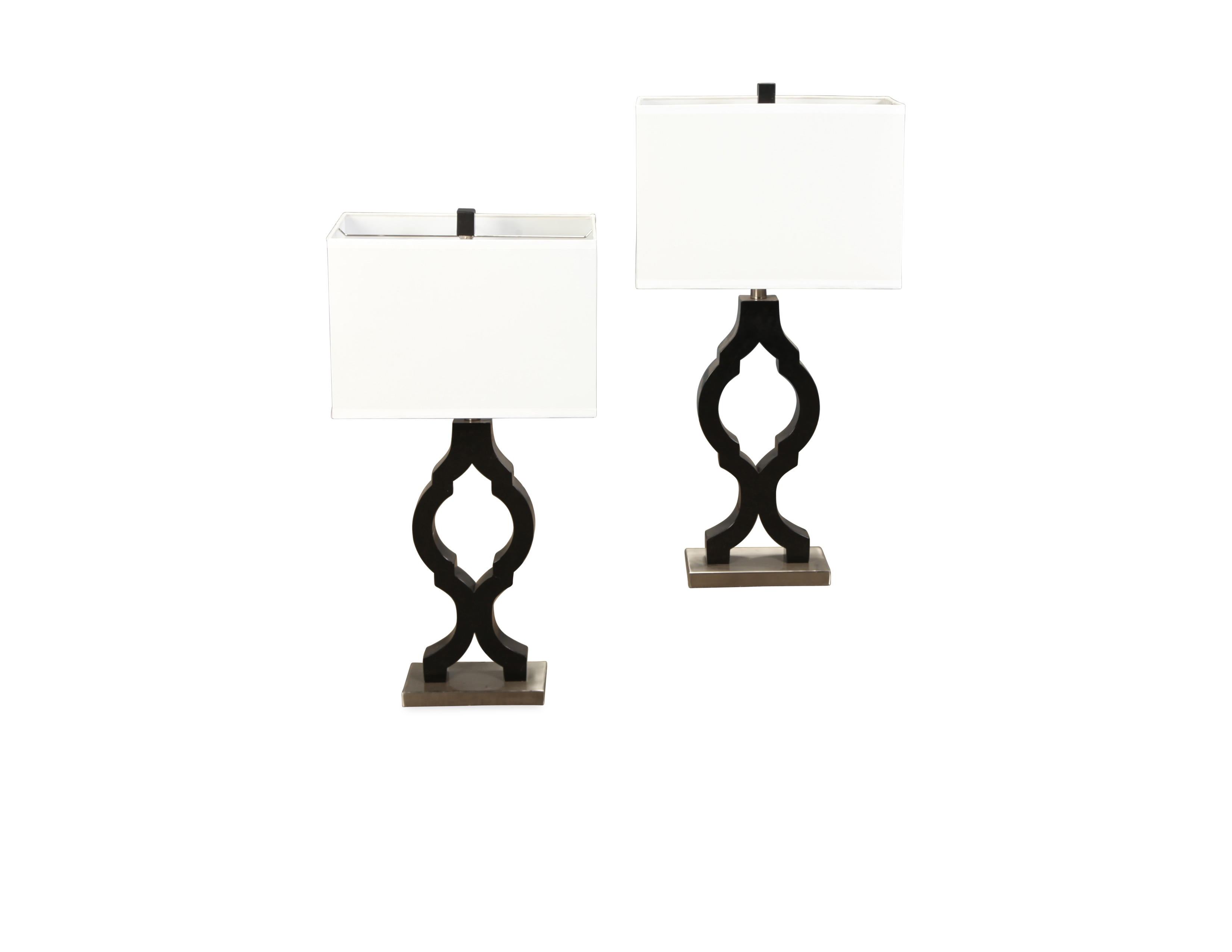 Table Lamps - Black Oval