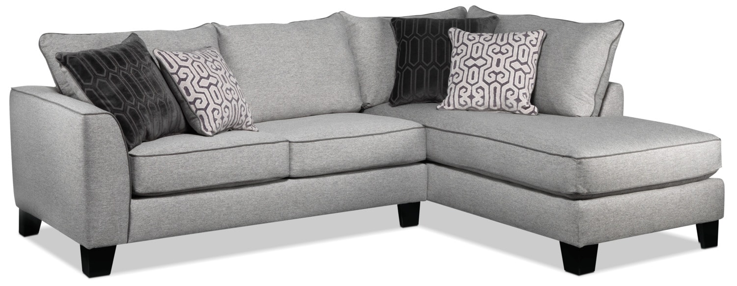 Trounce 2-Piece Sectional with Chaise - Grey