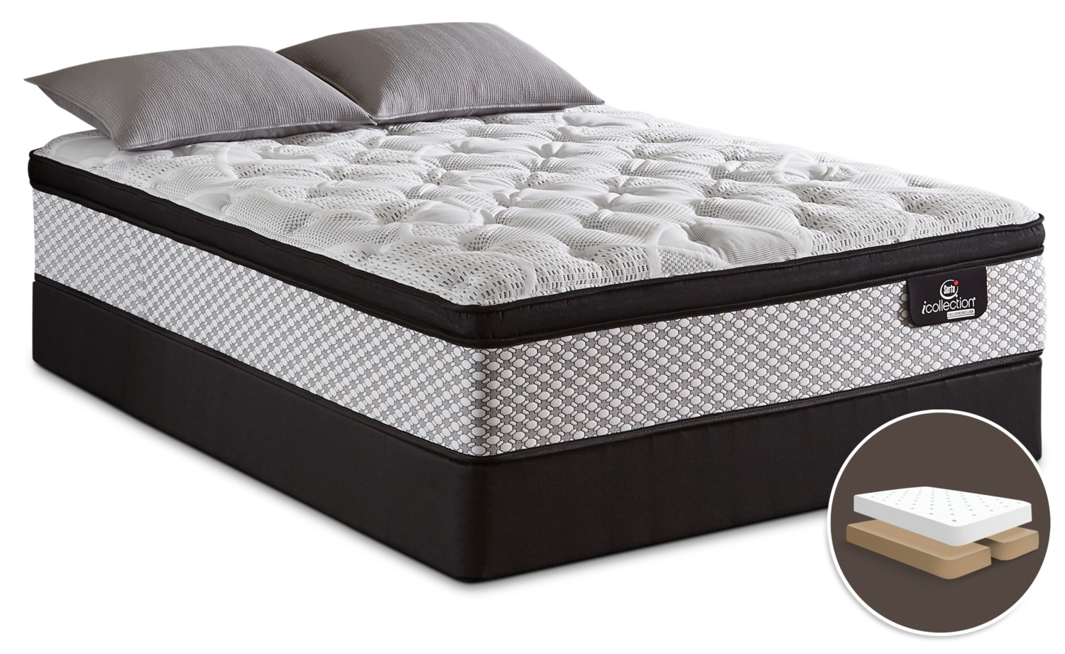 Serta iCollection® Jordyn Euro-Top Firm Split Queen Mattress Set