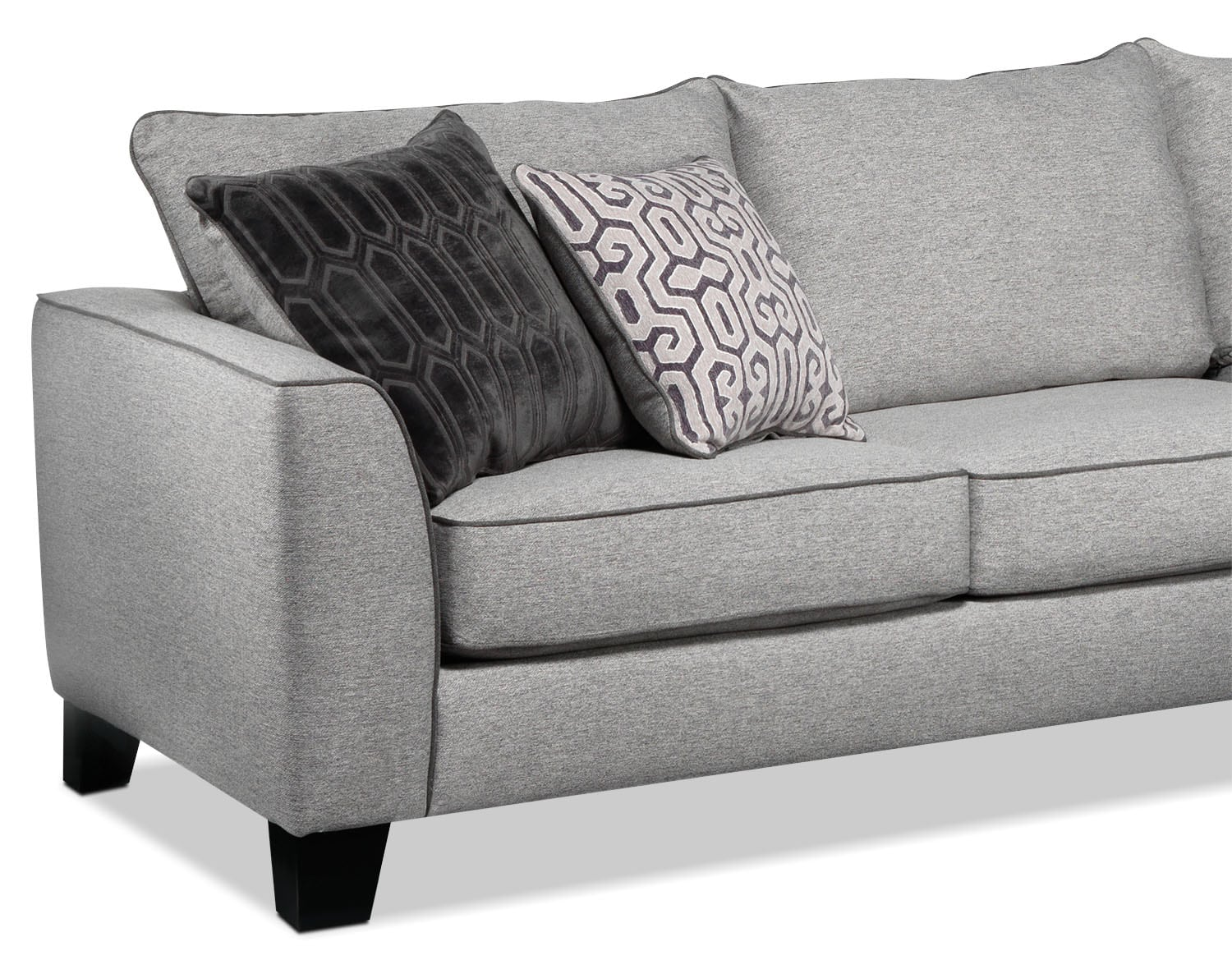 Trounce 2 piece sectional with chaise grey leon 39 s for 2 piece sectionals with chaise
