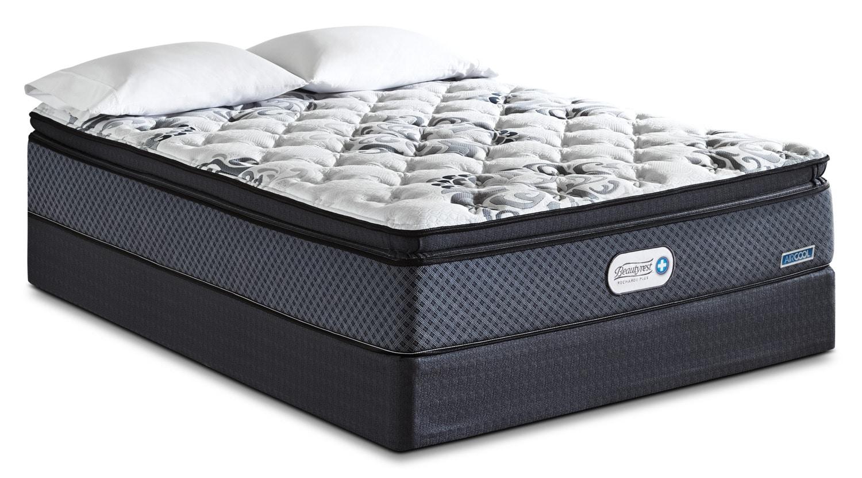 Mattresses and Bedding - Beautyrest Recharge Plus Inspire Hi-Loft Pillow-Top Firm Queen Mattress Set