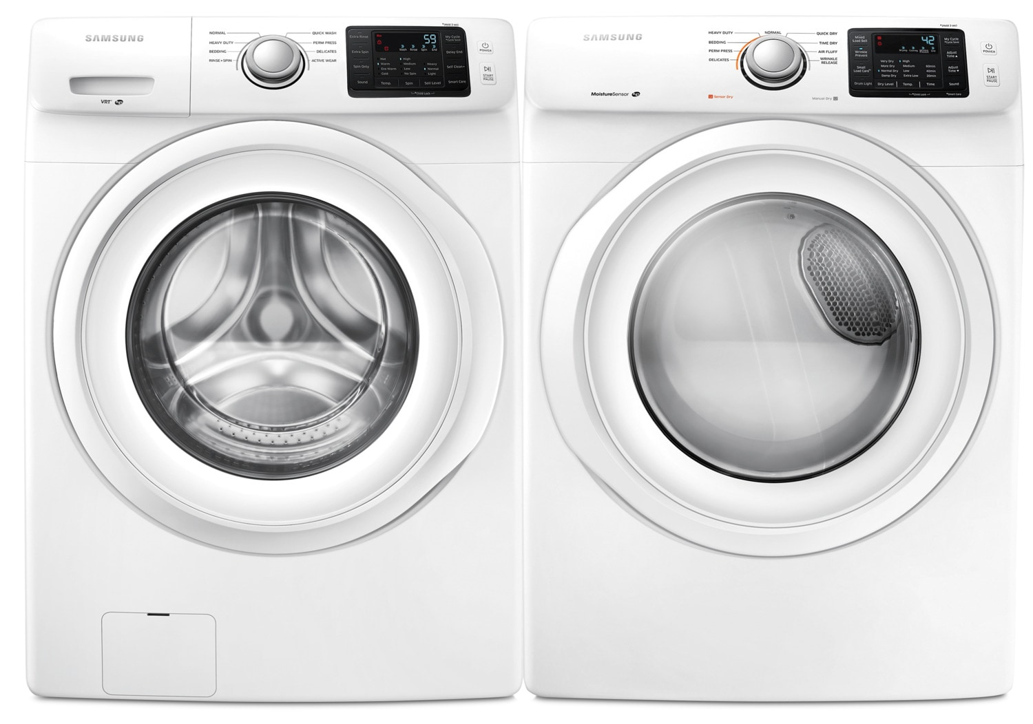 Samsung 5.2 Cu. Ft. Front-Load Washer and 7.5 Cu. Ft. Electric Dryer
