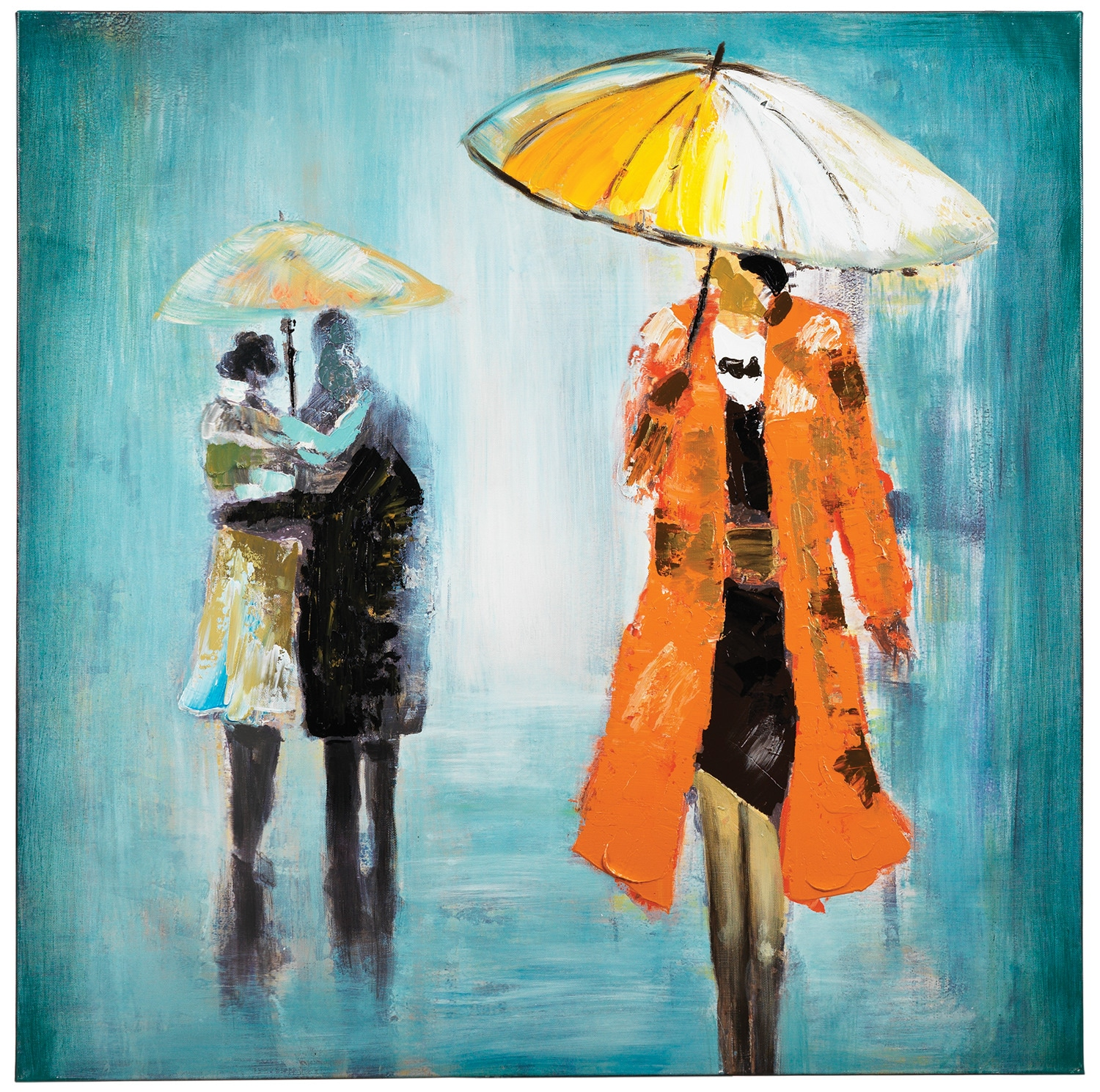 "Raincoat Canvas Print (32"" X 32"")"