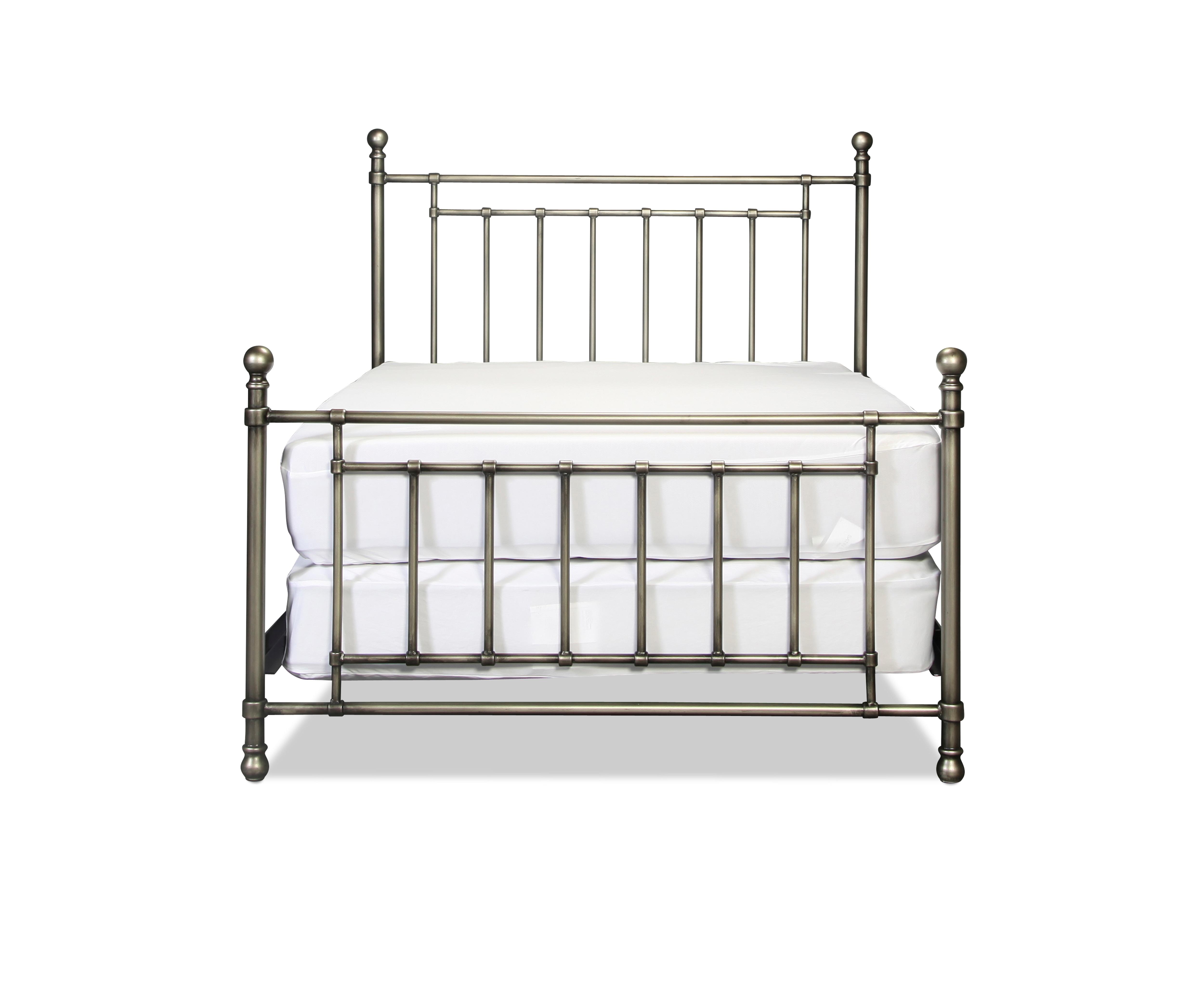 bedford metal bed antique pewter levin furniture