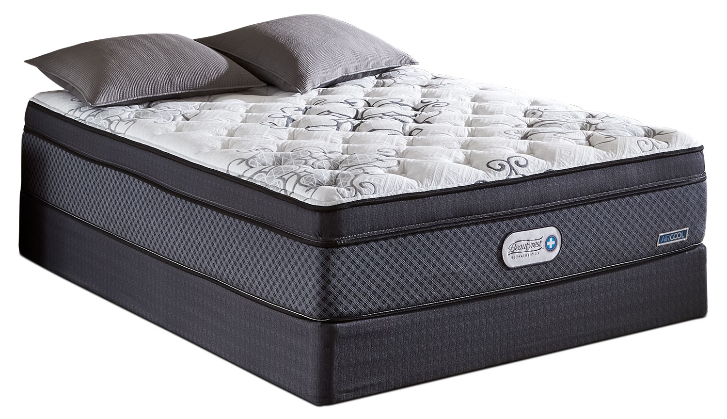 Beautyrest Recharge Plus Covington Euro-Top Luxury Firm Queen Mattress Set