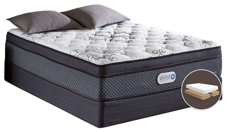 Mattresses and Bedding - Beautyrest Recharge Covington Euro-Top Luxury Firm Split Queen Mattress Set