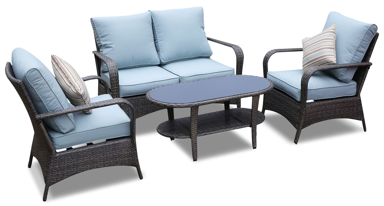 Outdoor Furniture - Aruba 4-Piece Patio Conversation Set