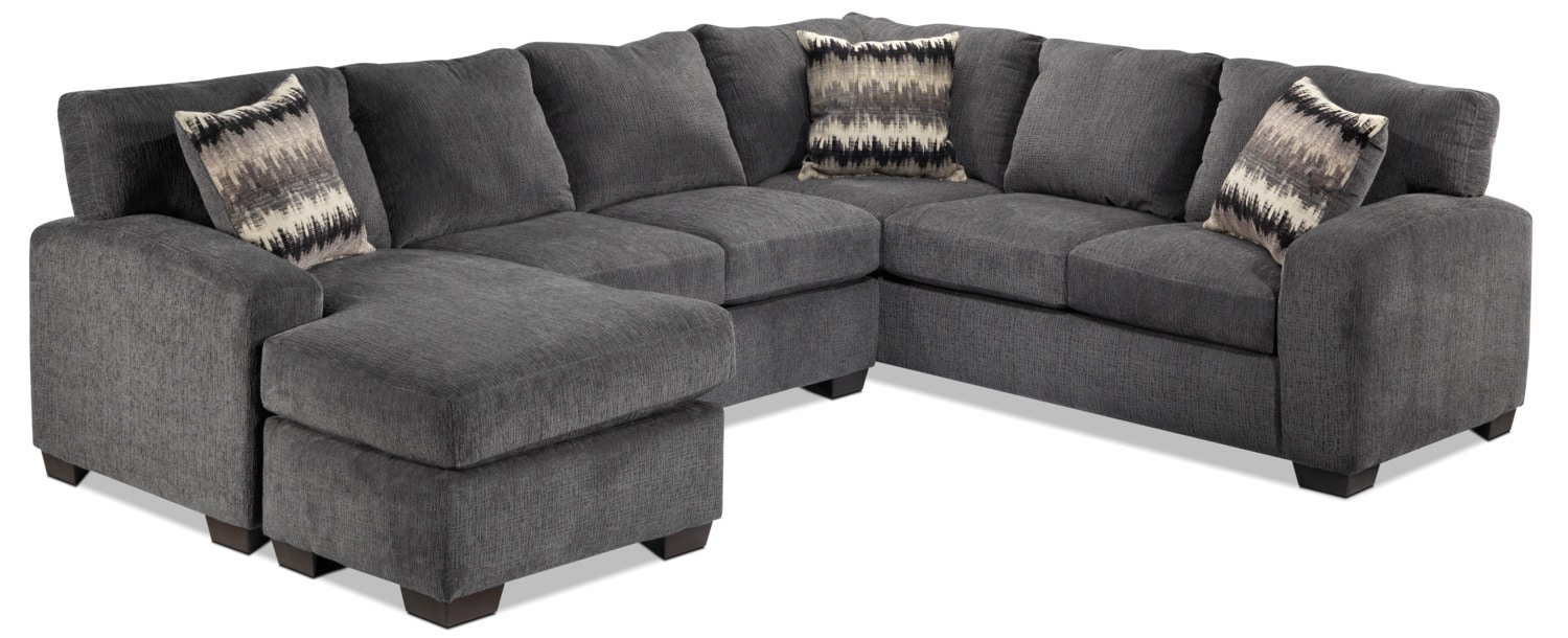 Perth 2 Piece Left Facing Sectional With Chaise Smoke
