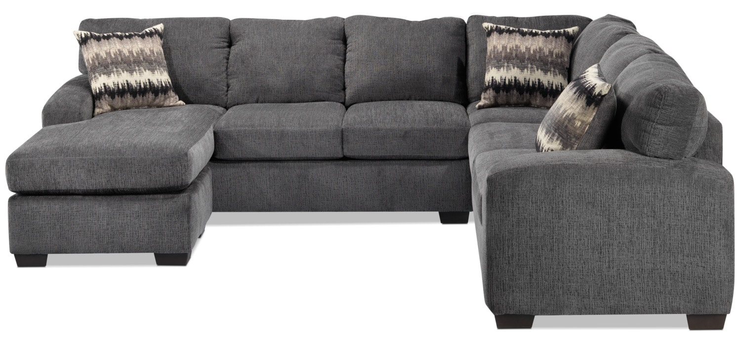 Perth 2 piece left facing sectional with chaise smoke for 2 piece sectionals with chaise