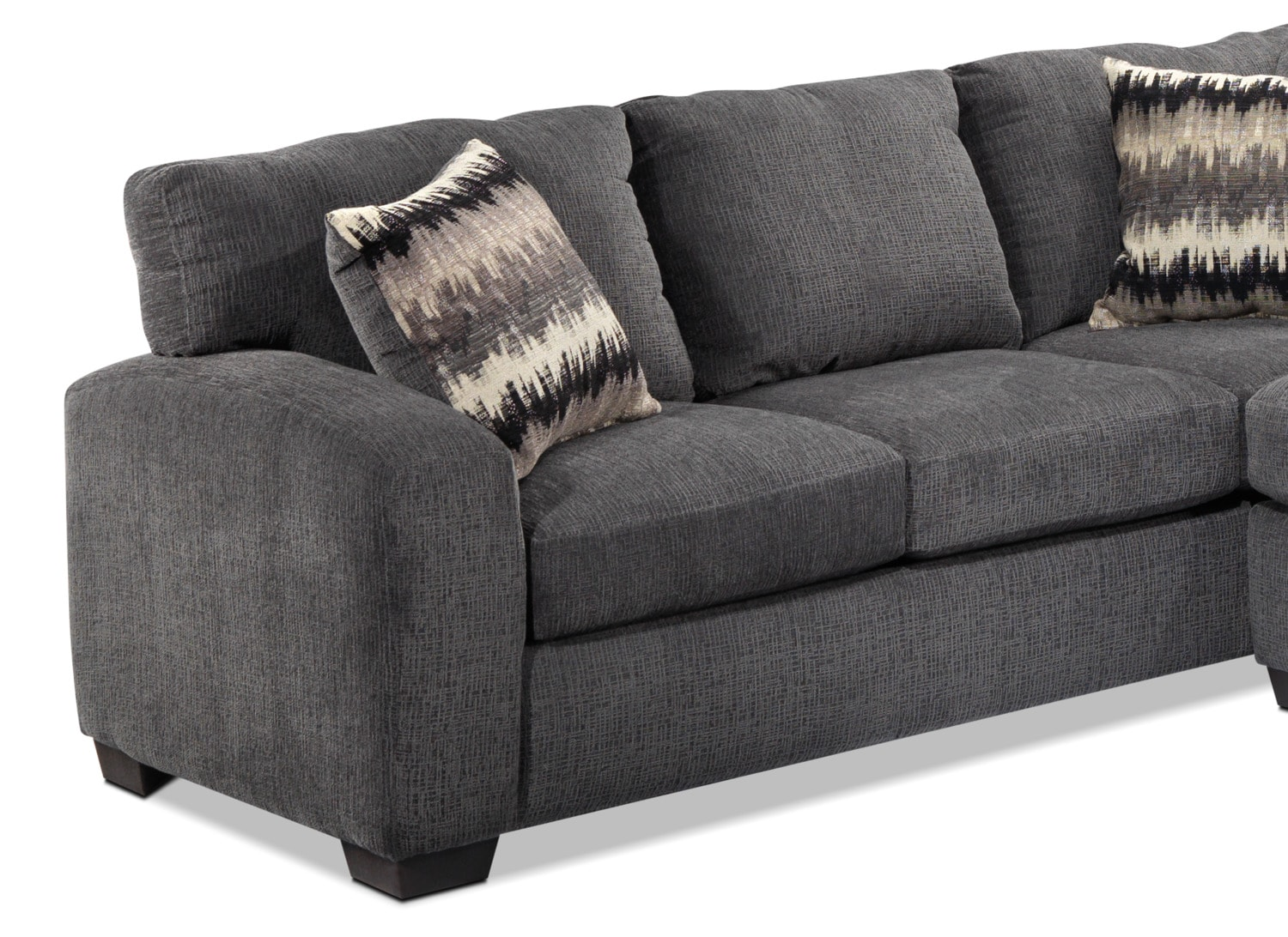 Perth 2 piece right facing sectional with chaise smoke for 2 piece sectionals with chaise