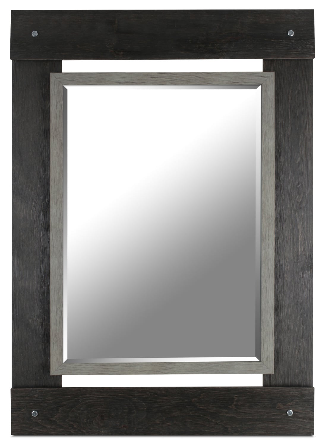 "Black French Country Mirror – 30"" x 42.5"""