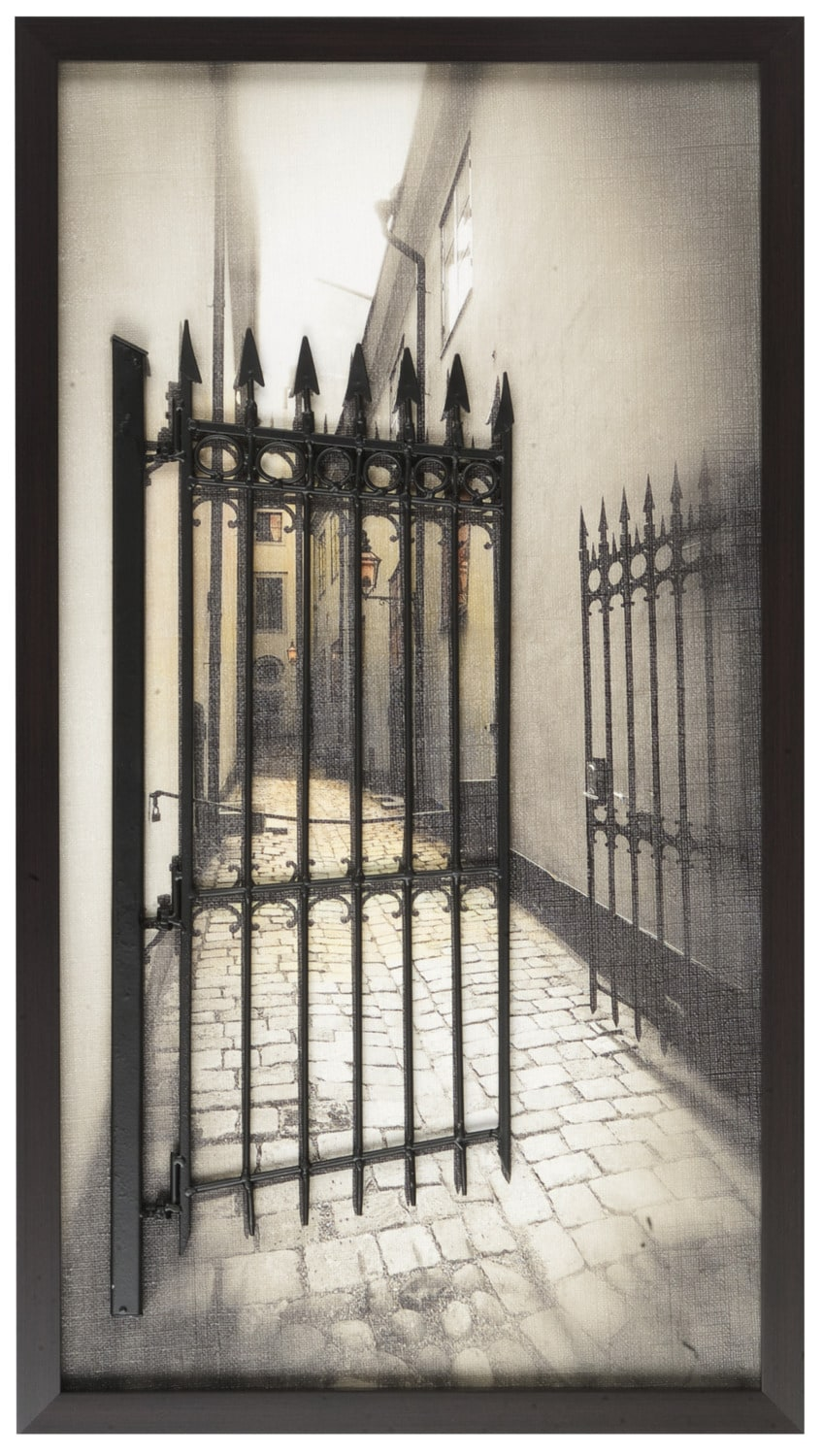 "Art and Metal Fence -18"" x 32"""