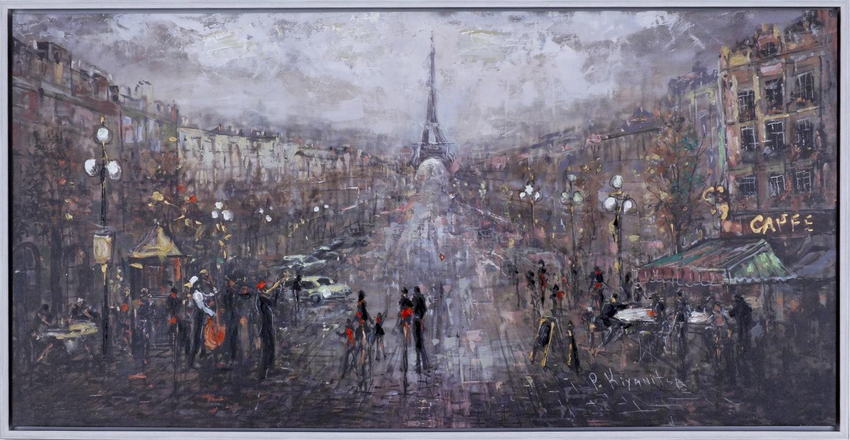 "Happy Paris – 50"" x 26"""