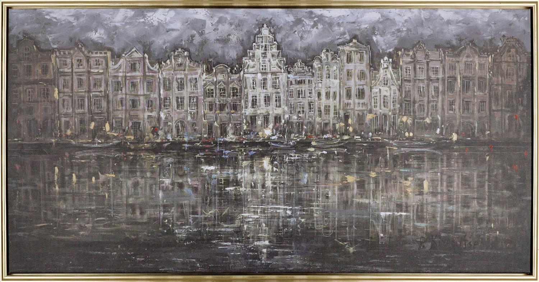 "Amsterdam at Night – 50"" x 26"""