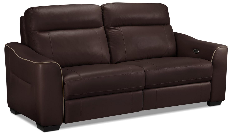 Bolton Power Reclining Sofa - Dark Brown