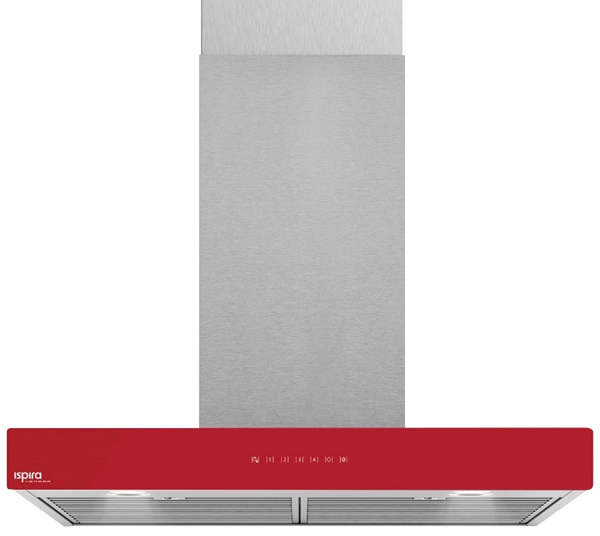 "Venmar Ispira 36"" Chimney Range Hood – Red"