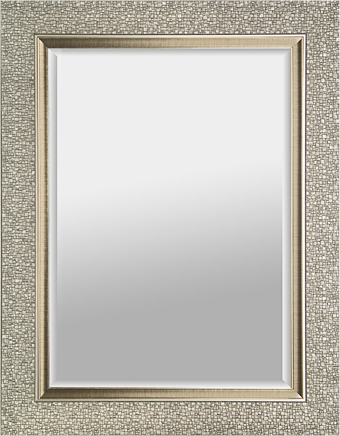 "Accent and Occasional Furniture - Fancy Silver Mirror – 27"" x 35"""