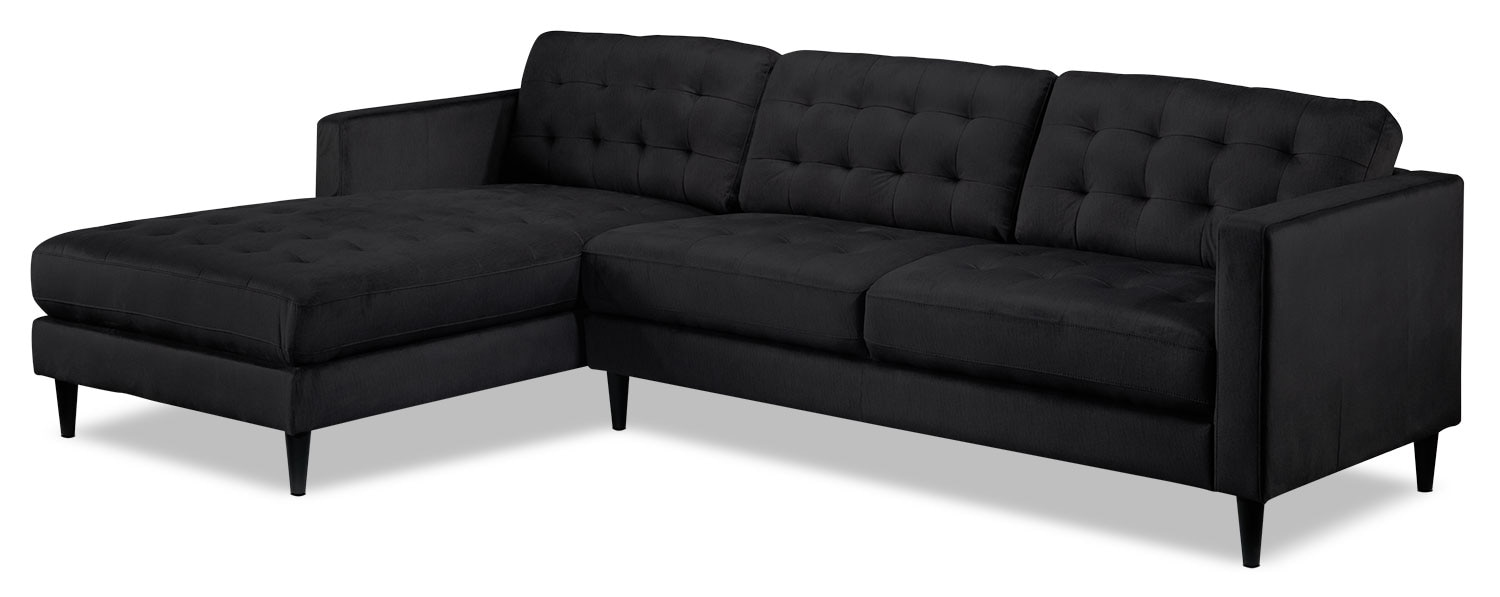 Paragon 2-Piece Sectional with Left-Facing Chaise - Charcoal