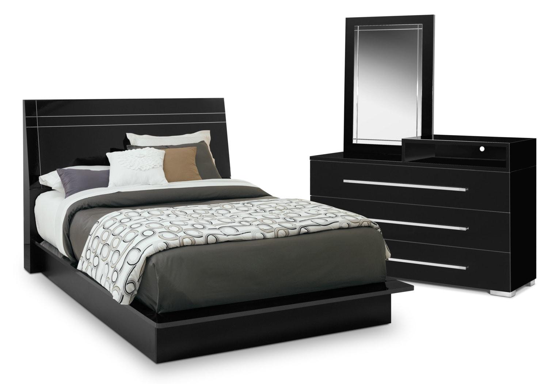 Dimora 5 piece queen panel bedroom set with media dresser 5 piece queen bedroom set under 500