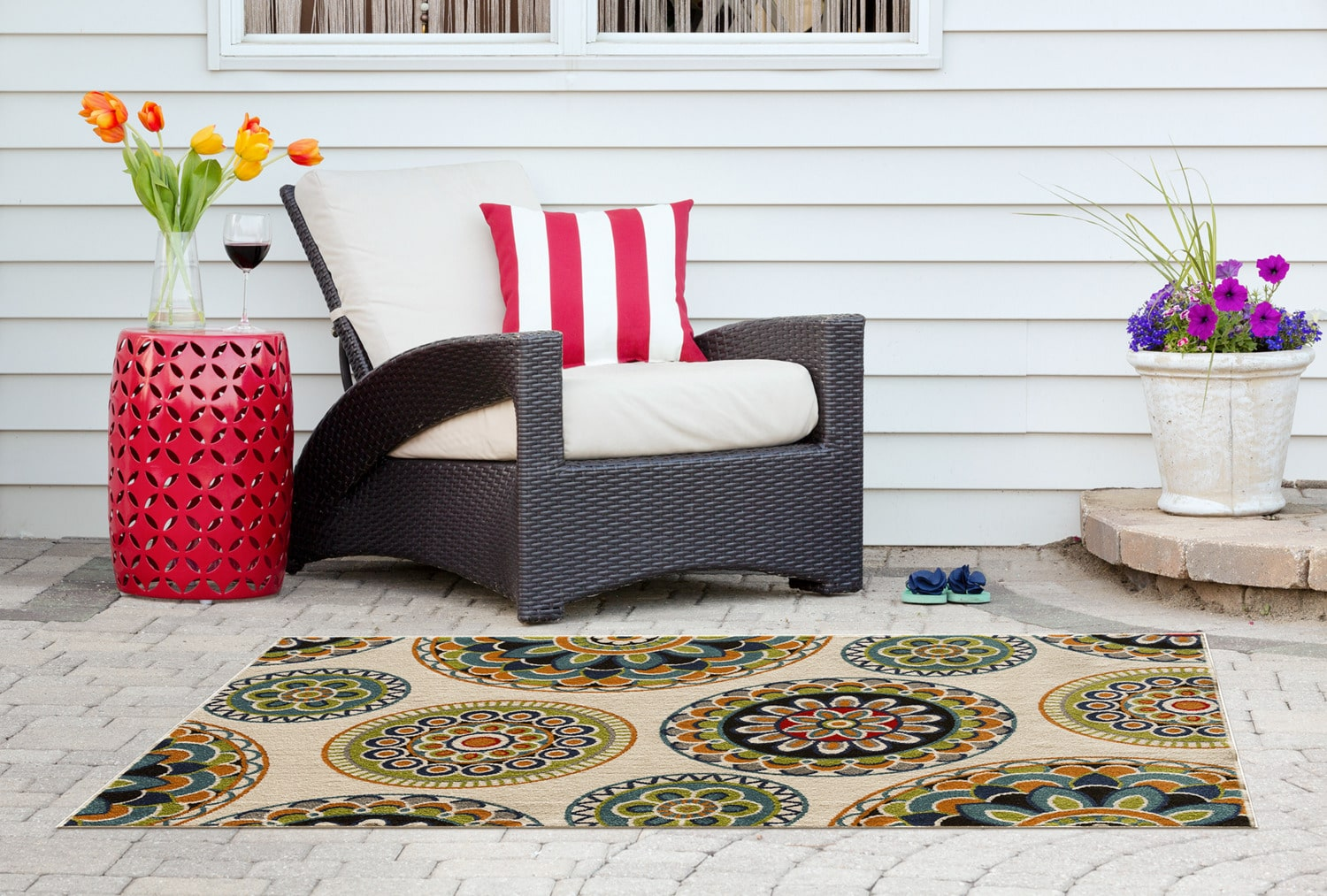 Burnette Outdoor Area Rug – 7' x 10'