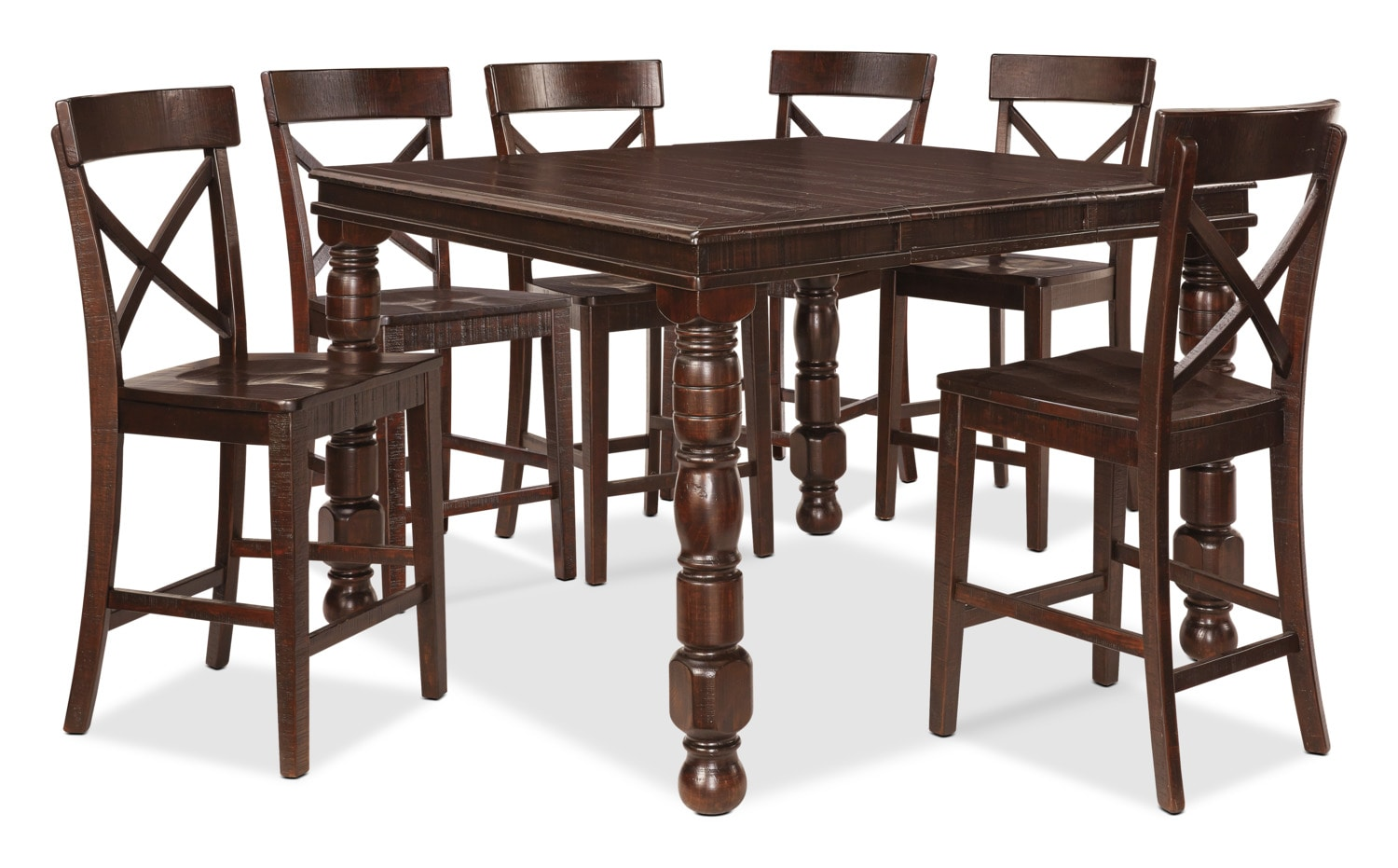 Dining Room Furniture - Gerlane 7-Piece Counter-Height Dining Package