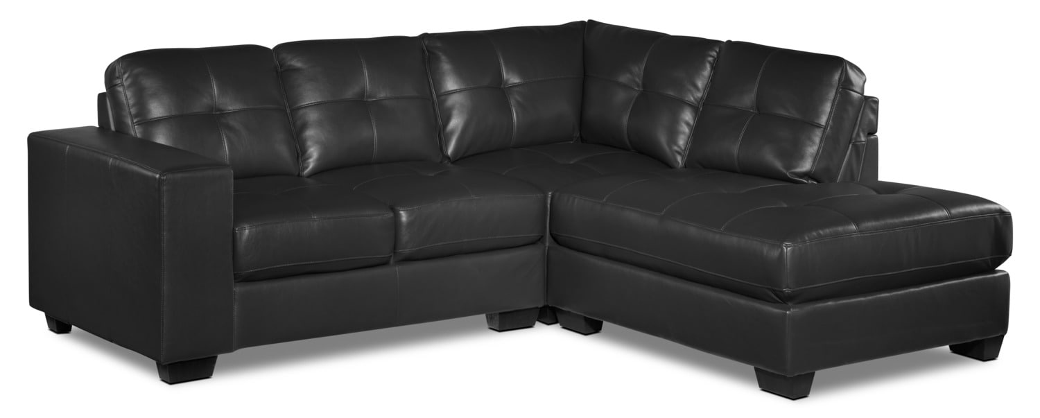 Meldrid 3-Piece Right-Facing Sectional - Dark Grey