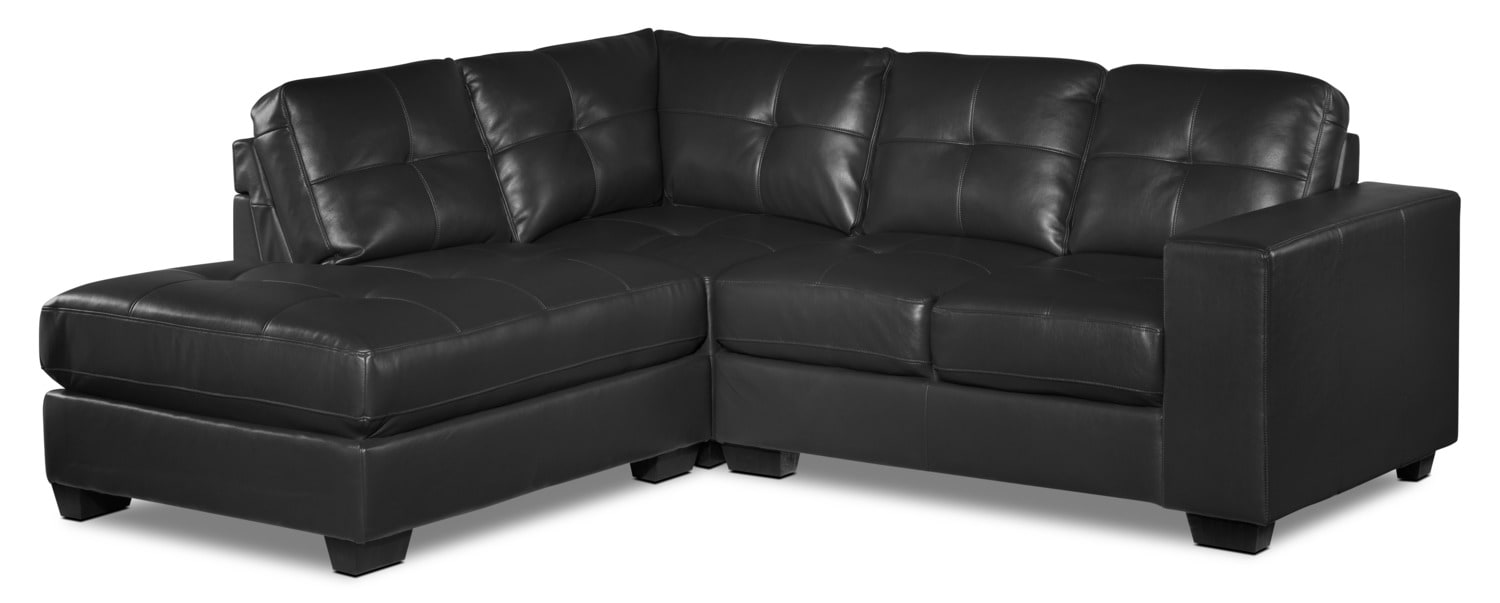Meldrid 3-Piece Left-Facing Sectional - Dark Grey