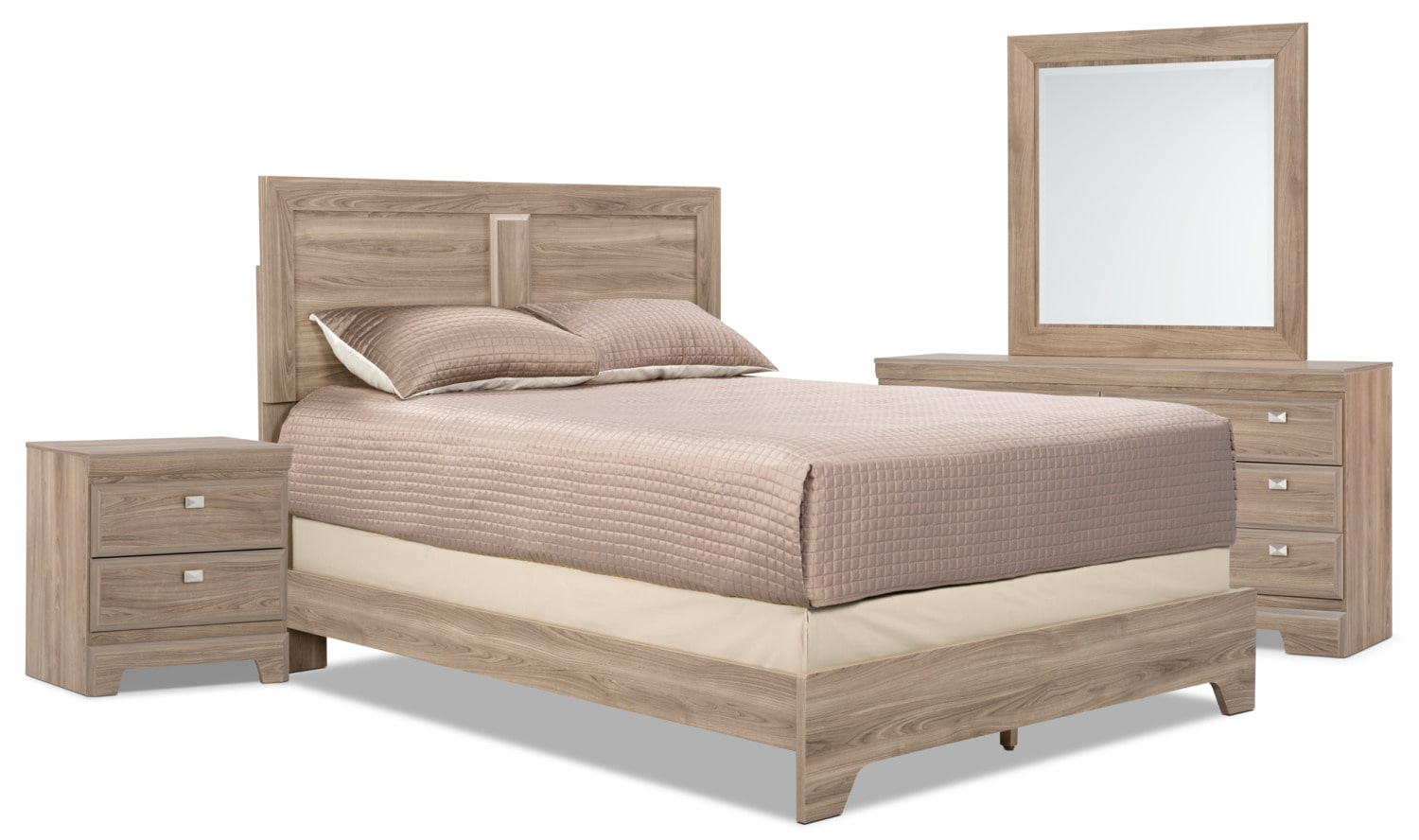 Yorkdale Light 6-Piece King Bedroom Package