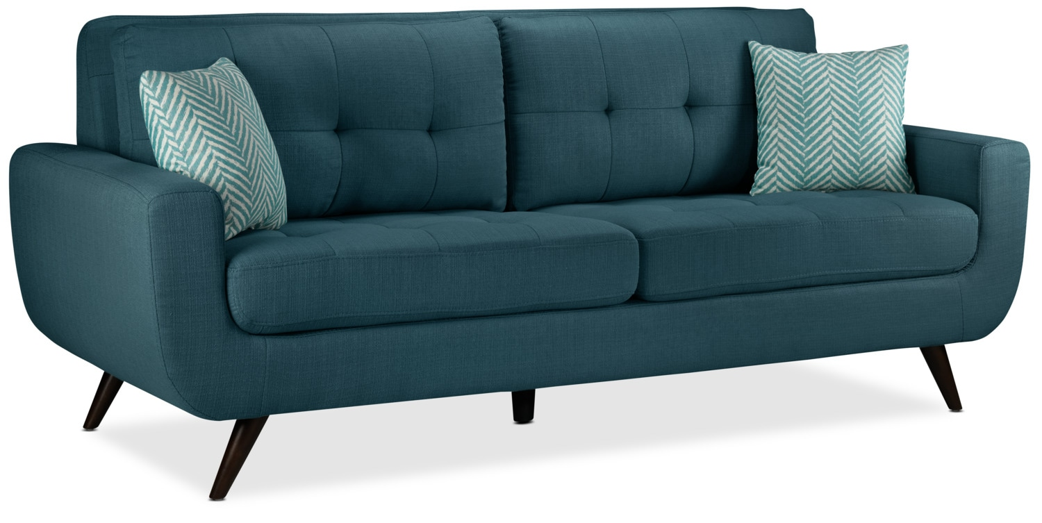 Living Room Furniture - Julian Sofa - Blue