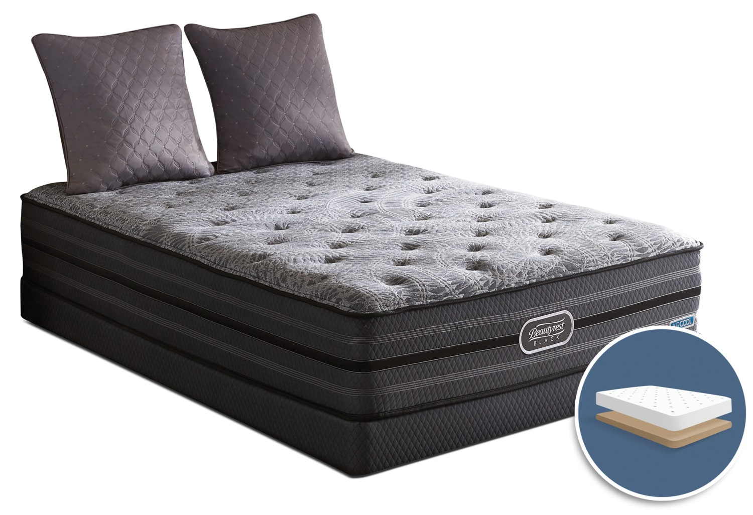 Beautyrest Black Radiance Tight-Top Luxury Firm Low-Profile King Mattress Set