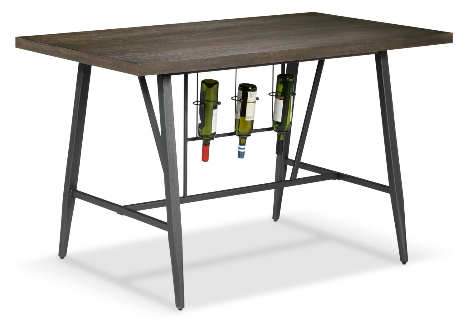 Richmond Pub-Height Table - Dark Grey and Brown