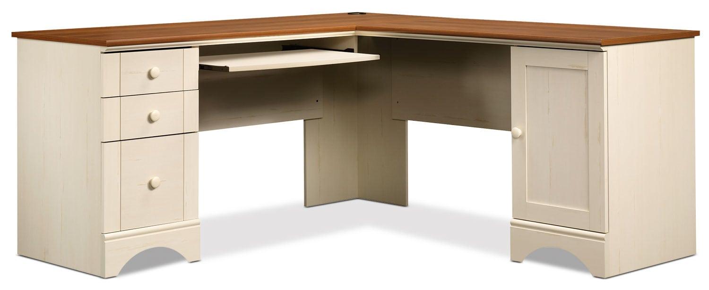 Home Office Furniture - Harbor View Corner Desk – Antiqued White