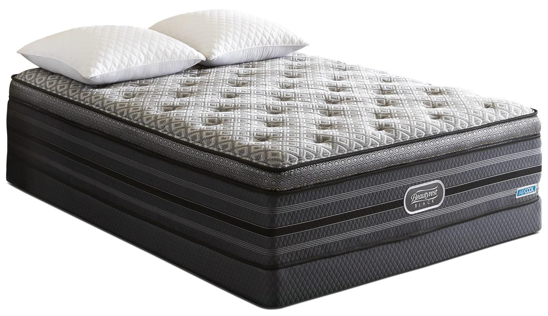 Matelas et sommiers - Ensemble matelas moelleux à dessus confort épais Palatial Beautyrest Black pour très grand lit