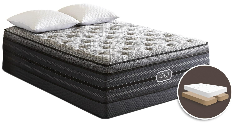 Simmons Beautyrest Black Palatial Ultra Comfort-Top Plush Split Queen Mattress Set