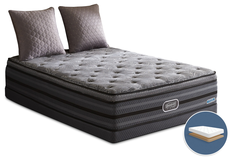 Mattresses and Bedding - Beautyrest Black Legendary Comfort-Top Luxury Firm Low-Profile Queen Mattress Set