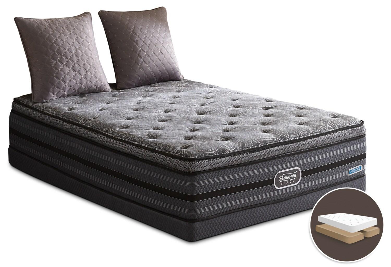 Mattresses and Bedding - Beautyrest Black Legendary Comfort-Top Luxury Firm Split Queen Mattress Set
