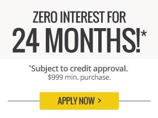 Zero interest for 24 months.
